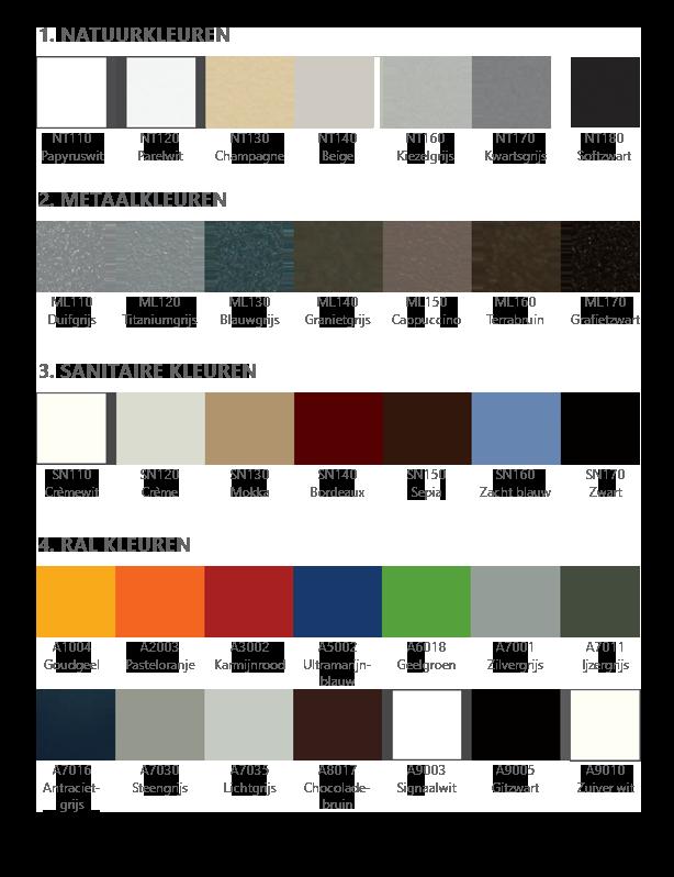 Kleurenkaart NL