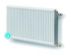 Een gegalvaniseerde Hygiene radiator zonder convectieblik voor gebruik in omgevingen waar hygiëne en veiligheid van groot belang zijn.